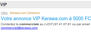 Newsletter Kerawa.com