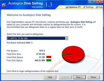 AUSLOGICS DISK DEFRAG (free version) v1.3