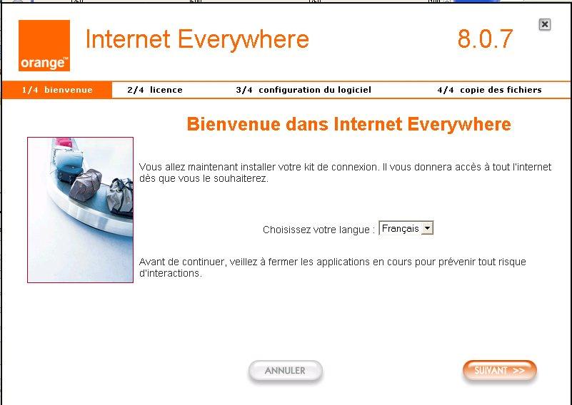Orange Internet USB